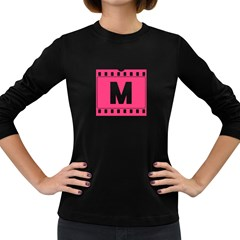 Pink Film  Women s Long Sleeve T Shirt (dark Colored) by strawberrymilkstore8