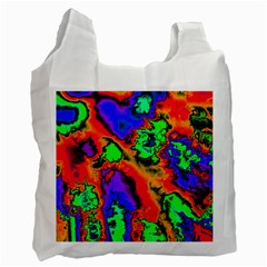 Hot Fractal Statement Recycle Bag (one Side) by Fractalworld