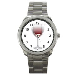 Wine Glass Steve Socha Sport Metal Watch by WineGlassOverlay