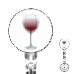 Wine Glass Steve Socha Stainless Steel Nurses Watch by WineGlassOverlay