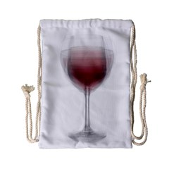 Wine Glass Steve Socha Drawstring Bag (small) by WineGlassOverlay