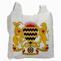 Coat Of Arms Of Chad Recycle Bag (one Side) by abbeyz71