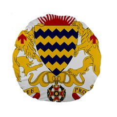 Coat Of Arms Of Chad Standard 15  Premium Round Cushions by abbeyz71