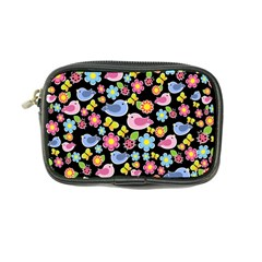 Spring Pattern   Black Coin Purse by Valentinaart