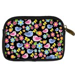 Spring pattern - black Digital Camera Cases Back