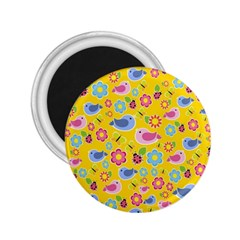 Spring Pattern   Yellow 2 25  Magnets by Valentinaart