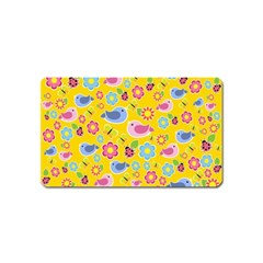 Spring Pattern   Yellow Magnet (name Card) by Valentinaart