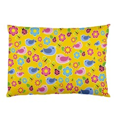 Spring Pattern   Yellow Pillow Case by Valentinaart