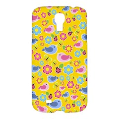 Spring Pattern   Yellow Samsung Galaxy S4 I9500/i9505 Hardshell Case by Valentinaart