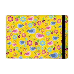 Spring Pattern   Yellow Ipad Mini 2 Flip Cases by Valentinaart