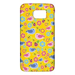 Spring Pattern   Yellow Galaxy S6 by Valentinaart