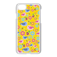 Spring Pattern   Yellow Apple Iphone 7 Seamless Case (white) by Valentinaart
