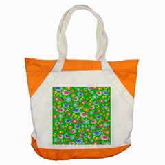 Spring Pattern   Green Accent Tote Bag by Valentinaart