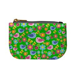 Spring Pattern   Green Mini Coin Purses by Valentinaart