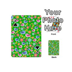 Spring Pattern   Green Playing Cards 54 (mini)