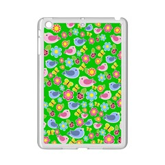 Spring Pattern   Green Ipad Mini 2 Enamel Coated Cases by Valentinaart