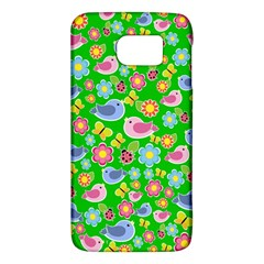 Spring Pattern   Green Galaxy S6 by Valentinaart