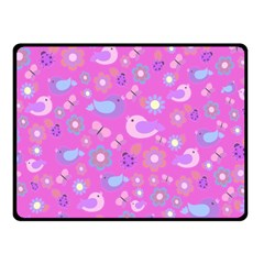 Spring Pattern   Pink Fleece Blanket (small) by Valentinaart
