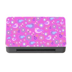 Spring Pattern   Pink Memory Card Reader With Cf by Valentinaart