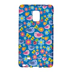 Spring Pattern   Blue Galaxy Note Edge by Valentinaart
