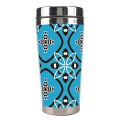 Ornamental Flowers Pattern                                                         Stainless Steel Travel Tumbler by LalyLauraFLM