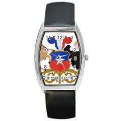 Coat Of Arms Of Chile Barrel Style Metal Watch by abbeyz71