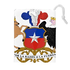 Coat Of Arms Of Chile Drawstring Pouches (extra Large) by abbeyz71