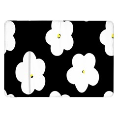 April Fun Pop Floral Flower Black White Yellow Rose Samsung Galaxy Tab 8 9  P7300 Flip Case by Jojostore