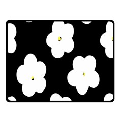 April Fun Pop Floral Flower Black White Yellow Rose Double Sided Fleece Blanket (small)  by Jojostore