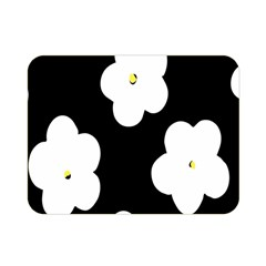 April Fun Pop Floral Flower Black White Yellow Rose Double Sided Flano Blanket (mini)  by Jojostore
