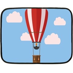 Air Ballon Blue Sky Cloud Double Sided Fleece Blanket (mini)
