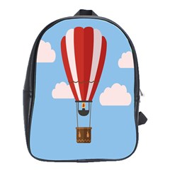 Air Ballon Blue Sky Cloud School Bags(large)  by Jojostore