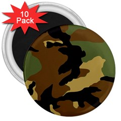 Army Camouflage 3  Magnets (10 Pack)  by Jojostore
