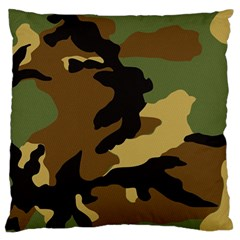 Army Camouflage Large Flano Cushion Case (one Side) by Jojostore