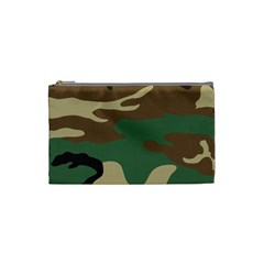 Army Shirt Green Brown Grey Black Cosmetic Bag (small)