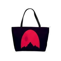 Awesome Photos Collection Minimalist Moon Night Red Sun Shoulder Handbags by Jojostore