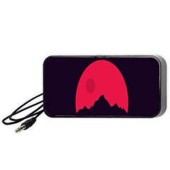 Awesome Photos Collection Minimalist Moon Night Red Sun Portable Speaker (black) by Jojostore