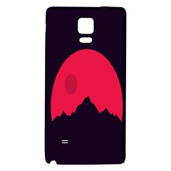 Awesome Photos Collection Minimalist Moon Night Red Sun Galaxy Note 4 Back Case by Jojostore