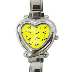Ant Yellow Circle Heart Italian Charm Watch by Jojostore