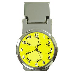 Ant Yellow Circle Money Clip Watches