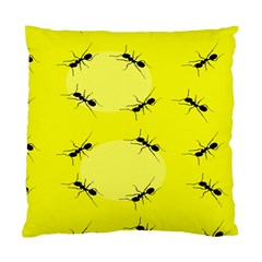 Ant Yellow Circle Standard Cushion Case (two Sides) by Jojostore