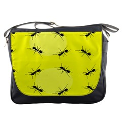 Ant Yellow Circle Messenger Bags