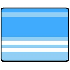 Blue Horizon Graphic Simplified Version Fleece Blanket (medium)  by Jojostore