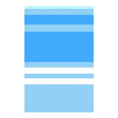 Blue Horizon Graphic Simplified Version Shower Curtain 48  X 72  (small)