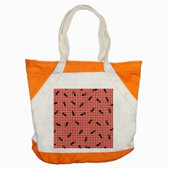 Ant Red Gingham Woven Plaid Tablecloth Accent Tote Bag