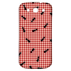 Ant Red Gingham Woven Plaid Tablecloth Samsung Galaxy S3 S Iii Classic Hardshell Back Case by Jojostore