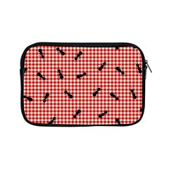 Ant Red Gingham Woven Plaid Tablecloth Apple Ipad Mini Zipper Cases