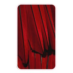 Black Red Flower Bird Feathers Animals Memory Card Reader