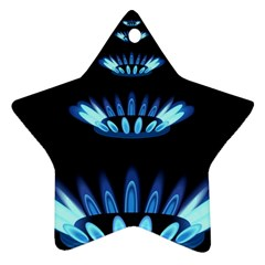 Blue Flame Star Ornament (two Sides)