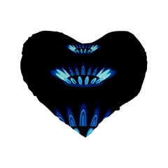 Blue Flame Standard 16  Premium Heart Shape Cushions by Jojostore